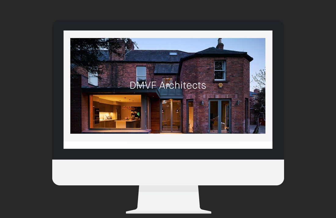 DMVF Architects Website: Home page slider design by Freelance Graphic Designer Colm McCarthy