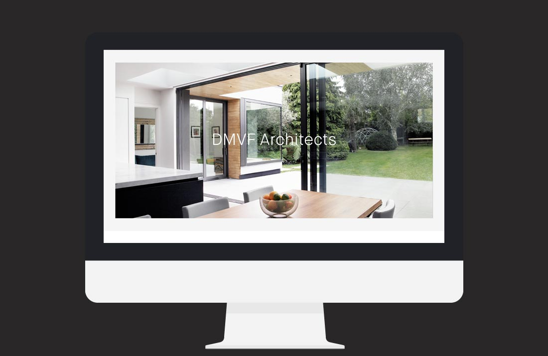 DMVF Architects Website: Home page design by Freelance Graphic Designer Colm McCarthy