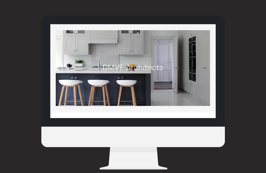 DMVF Architects Website: Home page image slider design by Freelance Graphic Designer Colm McCarthy