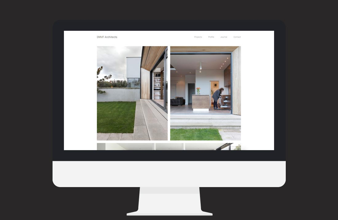DMVF Architects Website: Single Project page design by Freelance Graphic Designer Colm McCarthy