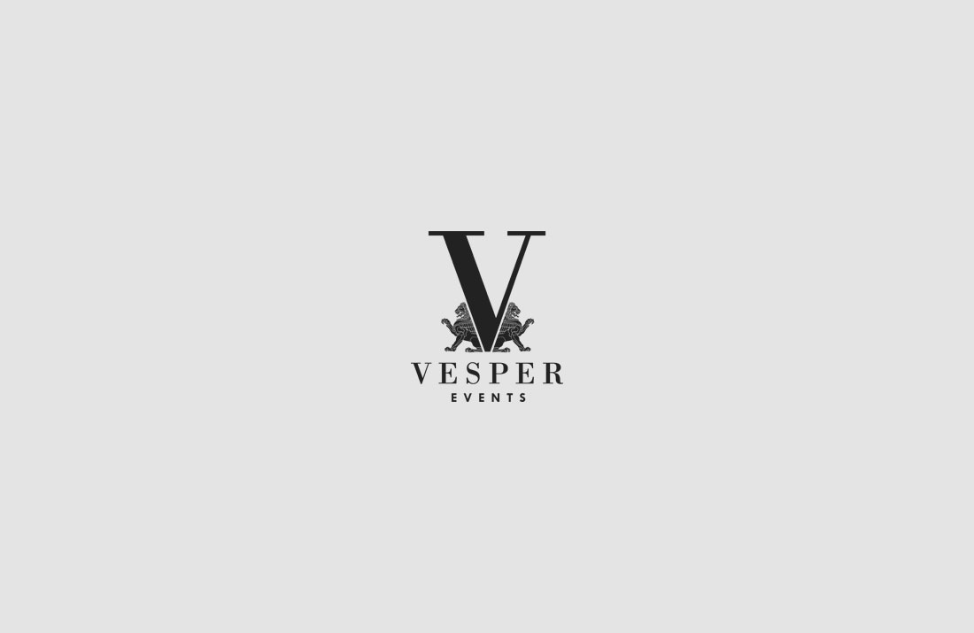 Vesper Events Logo Design
